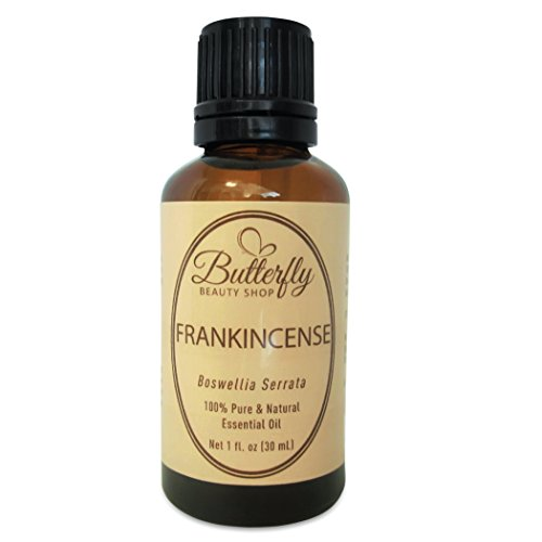 Frankincense Essential Oil: 30mL of 100% Pure, Undiluted Boswellia Serrata. Common Uses: Skin Care, Wrinkles, Scars, Skin Tags & Warts. Helps to Relieve Stress, Anxiety, Restless Legs Syndrome & Trouble Sleeping. Comes With a Tips & Uses Guide.