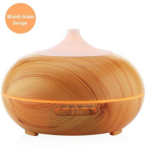 300ml Aroma Essential Oil Diffuser,URPOWER Wood Grain